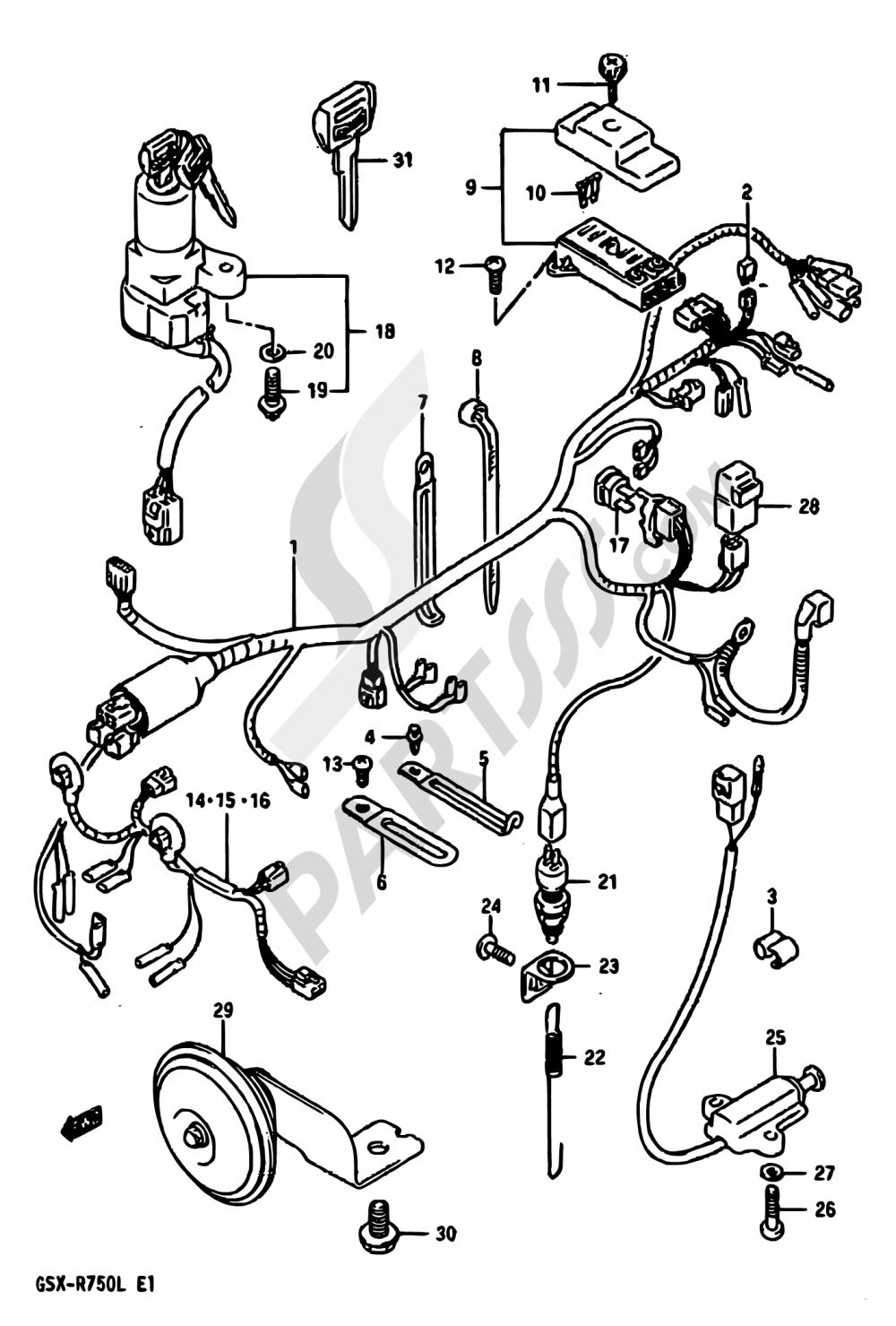 Diagram Also Suzuki Gsx R 750 Wiring Diagram As Well As Wiring