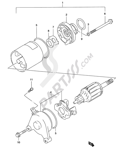 Suzuki Marauder Gz125 2002 Dissassembly Sheet Purchase Genuine