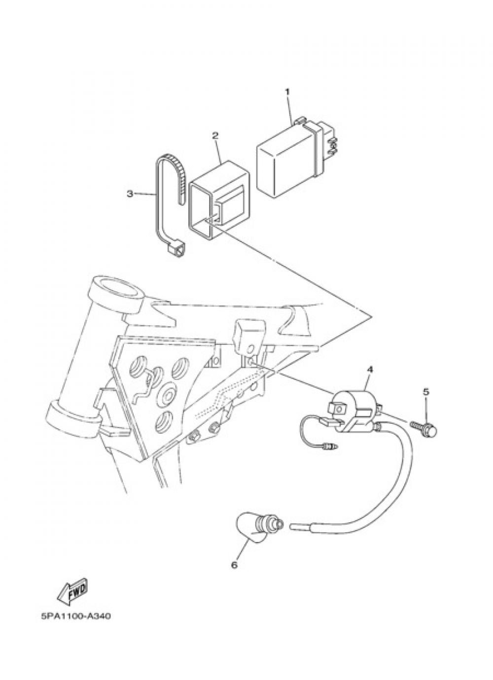 ELECTRIC EQUIPMENT 1 Yamaha YZ85 2004