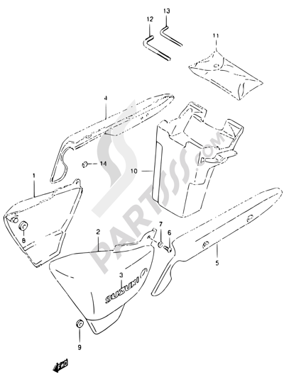 Suzuki Marauder Gz125 1998 Dissassembly Sheet Purchase Genuine
