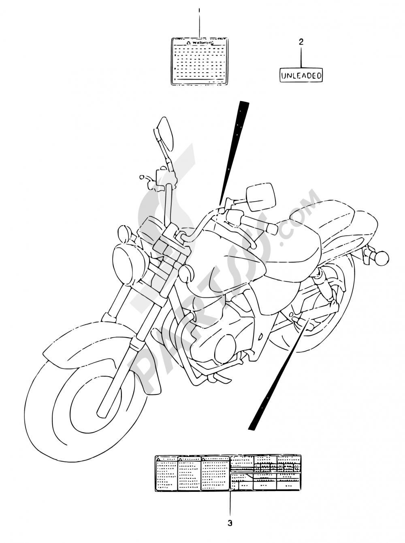 36 - LABEL Suzuki MARAUDER GZ125 1999