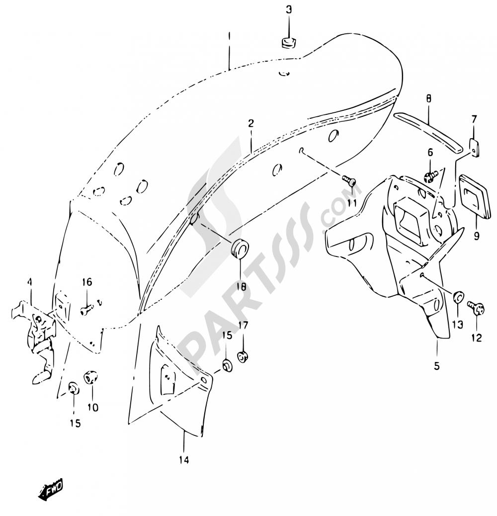 35a Rear Fender Model Y Suzuki Marauder Gz125 2000 Wiring Diagram