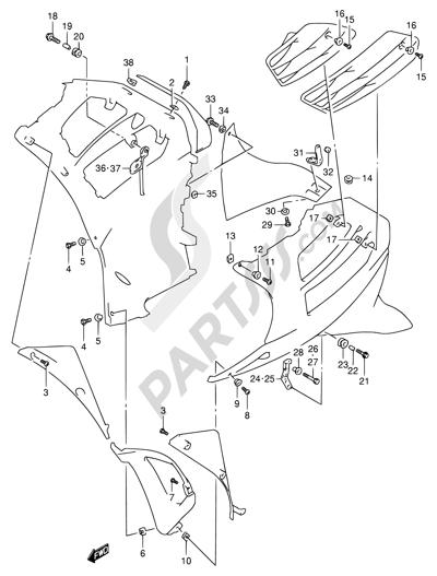 suzuki rf900r 1994 dissassembly sheet. purchase genuine spare, Wiring diagram