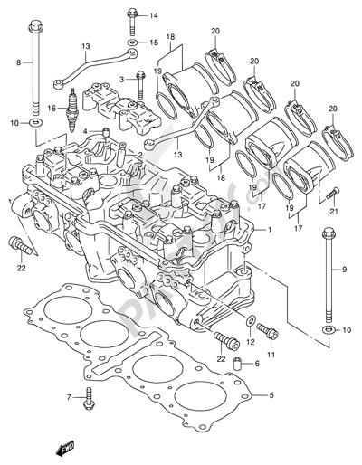 Suzuki Rf900r 1994 Dissassembly Sheet Purchase Genuine