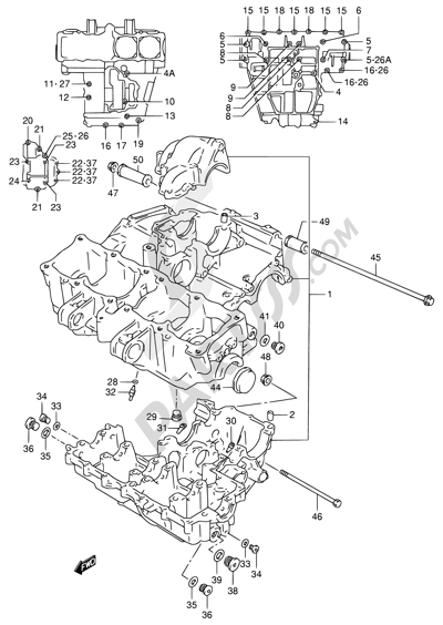 suzuki rf900r 1994 dissassembly sheet  purchase genuine