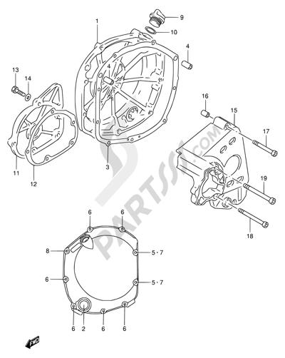 Suzuki Rf900r 1994 Dissassembly Sheet Purchase Genuine Spare Parts