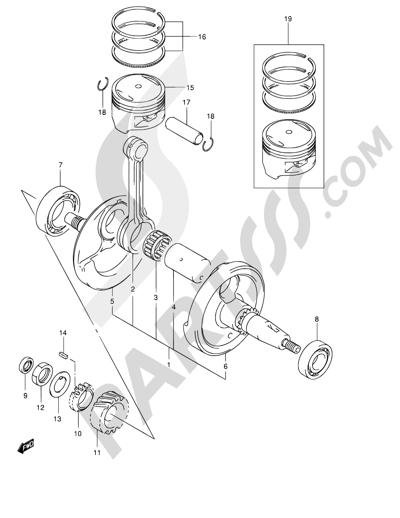 suzuki van van rv125 2004 dissassembly sheet  purchase genuine spare parts online