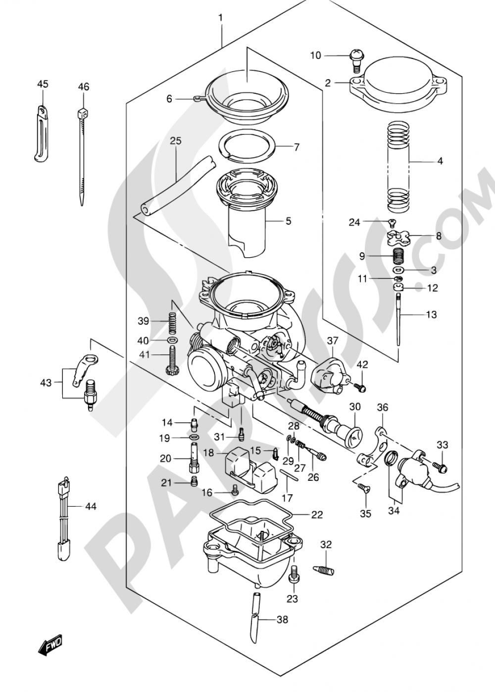 10 - CARBURETOR (MODEL K3/K4/K5/K6) Suzuki VAN VAN RV125 2004