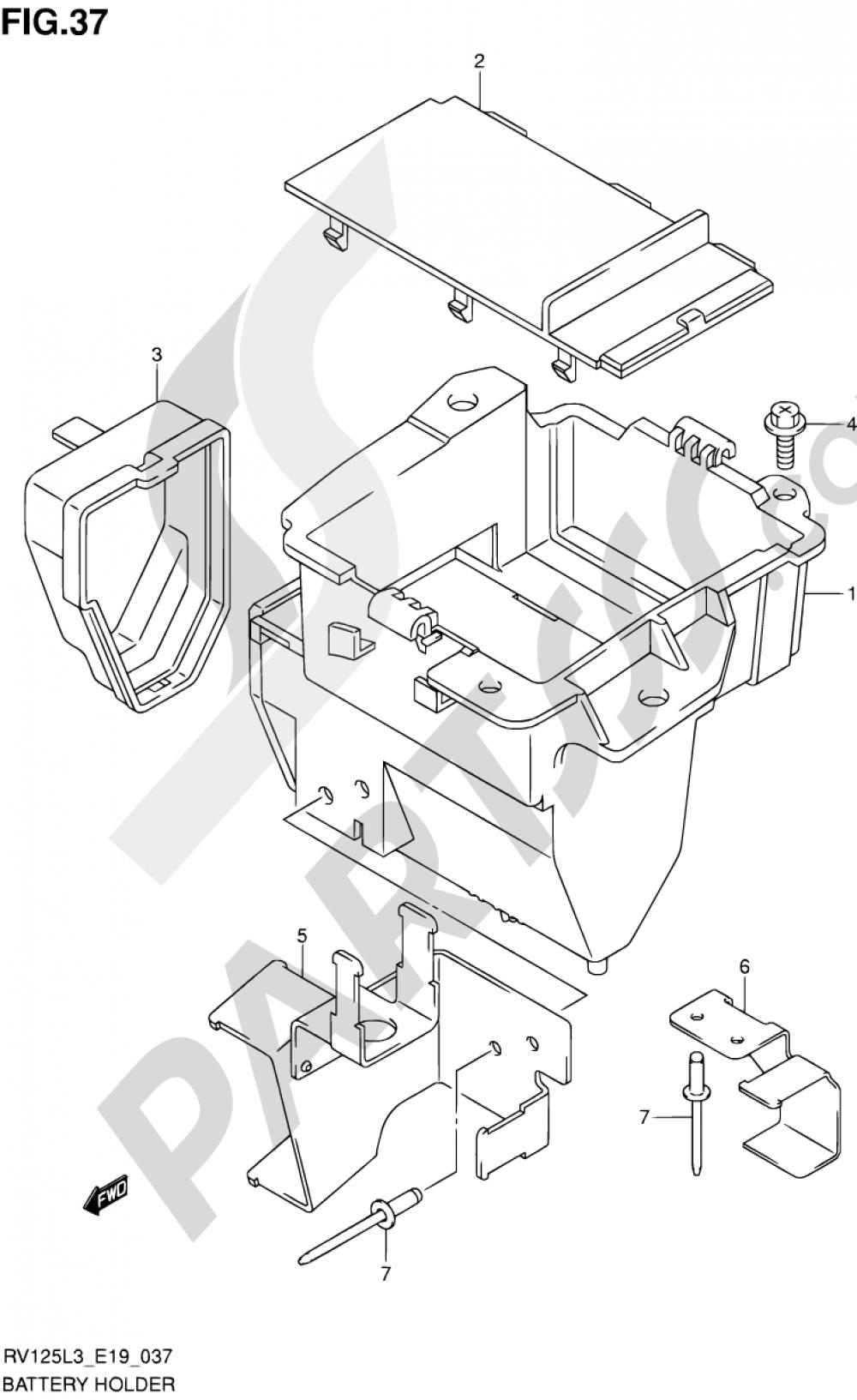 37 Battery Holder Suzuki Van Rv125 2013 Rv 125 Wiring Diagram