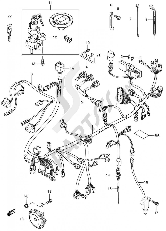33 - WIRING HARNESS (SV1000S/S1/S2) Suzuki SV1000 2003