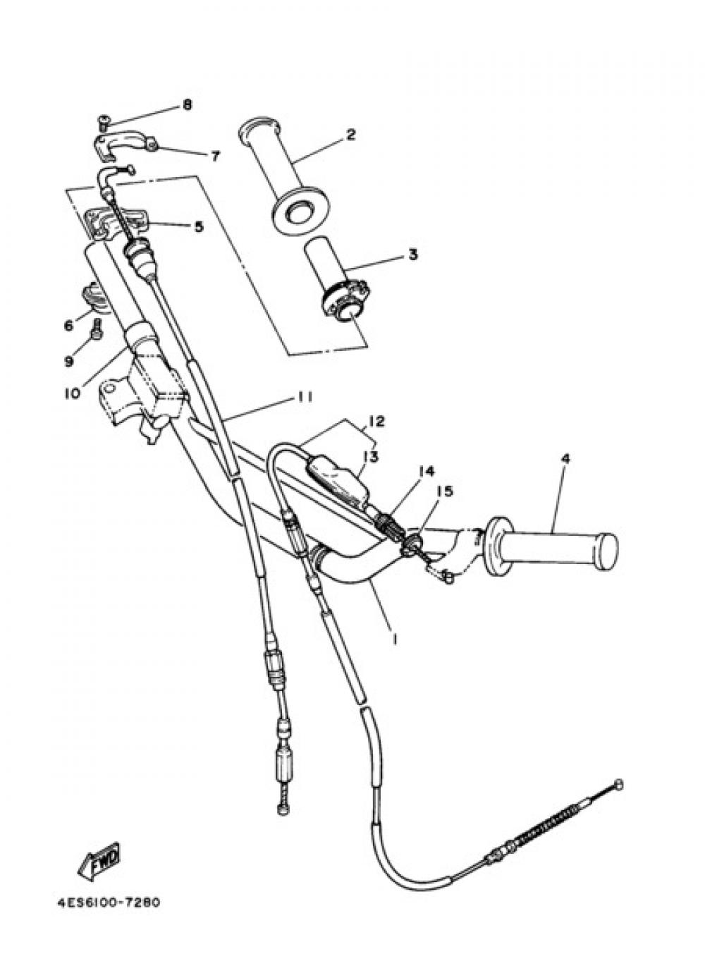 STEERING HANDLE & CABLE Yamaha YZ85 2006