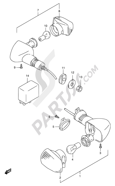 Suzuki Tl1000r 2001 Dissassembly Sheet Purchase Genuine Spare Parts