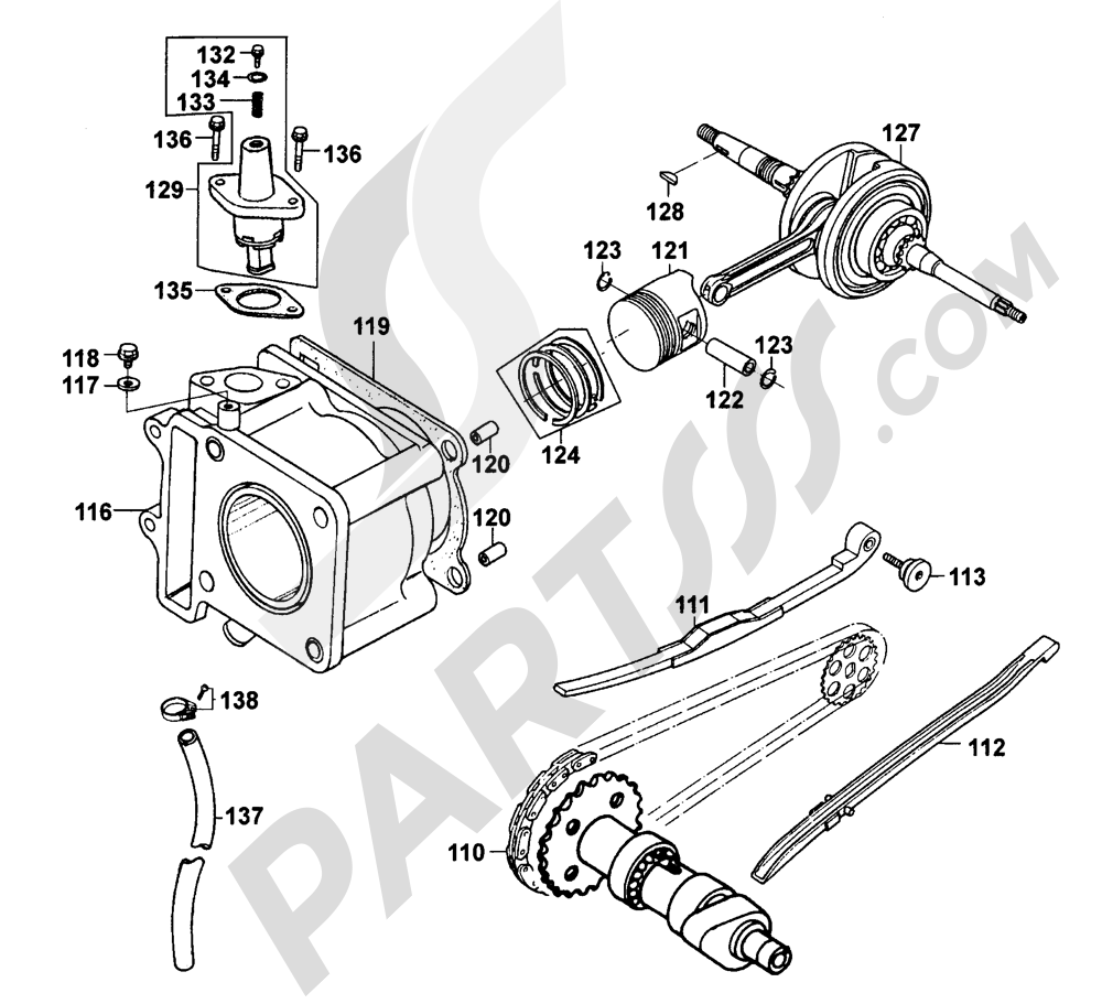 Kymco Engine Diagram 21 Betwin 150 Sh30ca