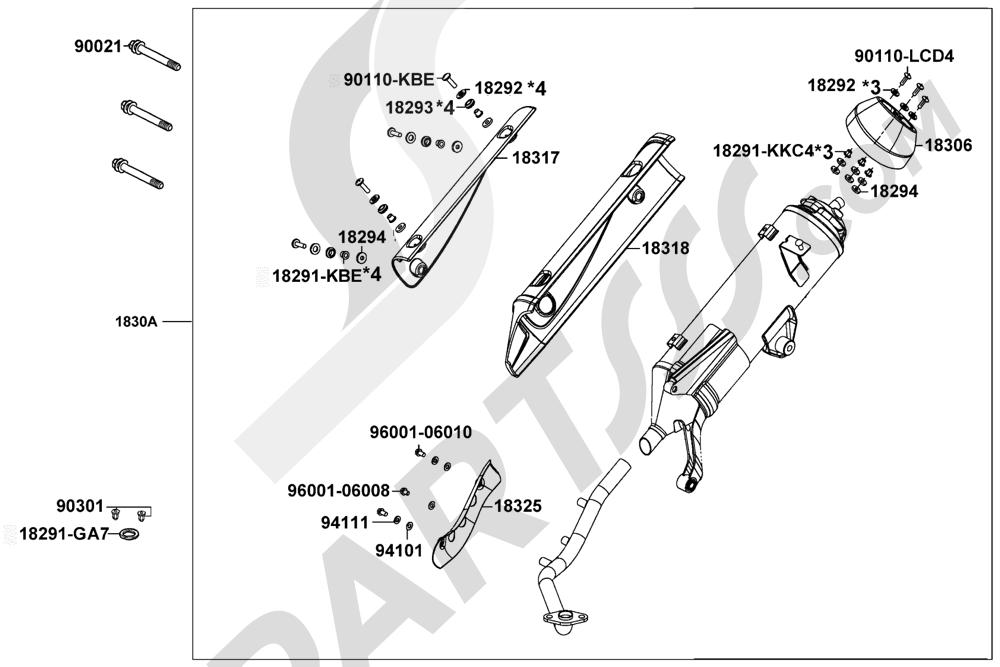 87 Kymco LIKE-125 KN25AA