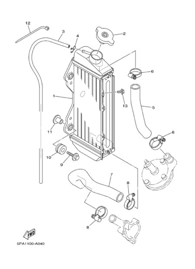 Yamaha Yz85 2005 Dissassembly Sheet Purchase Genuine Spare Parts Online