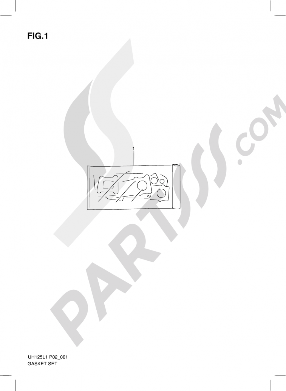 1 - GASKET SET Suzuki BURGMAN UH125 2011