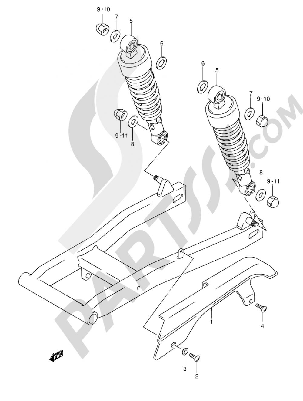 48 - CHAIN CASE Suzuki INTRUDER VL125 2001