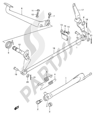 Suzuki Intruder Vl125 2007 Dissassembly Sheet Purchase Genuine