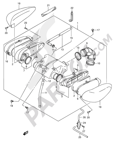Suzuki Intruder Vl125 2007 Dissassembly Sheet Purchase Genuine