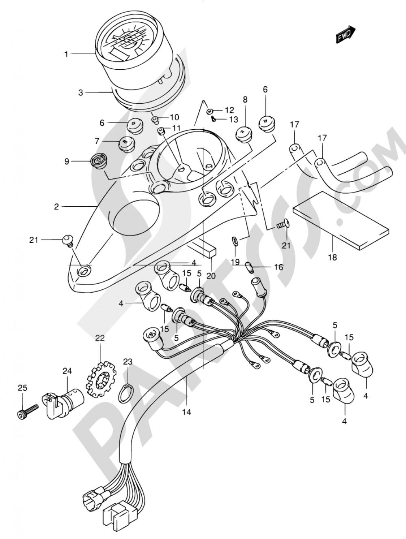 22 - SPEEDOMETER (MODEL Y/K1/K2) Suzuki INTRUDER VL125 2000