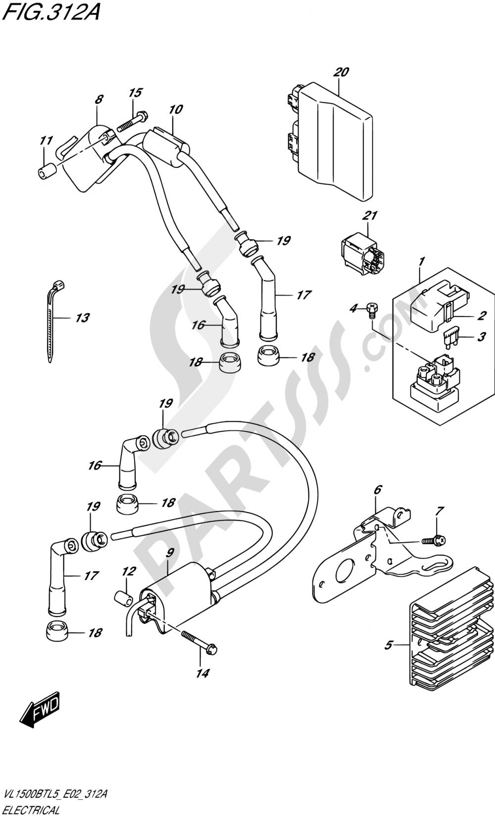 312A - ELECTRICAL Suzuki INTRUDER VL150 2015