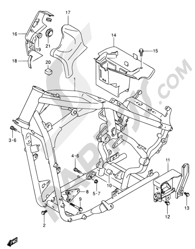 Suzuki Intruder Vl800 2002 Dissassembly Sheet Purchase Genuine