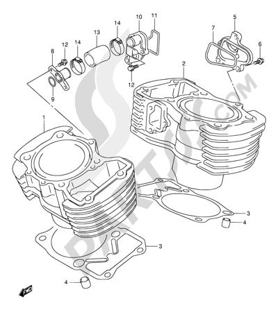 Suzuki Intruder Vl800 2002 Dissassembly Sheet Purchase Genuine