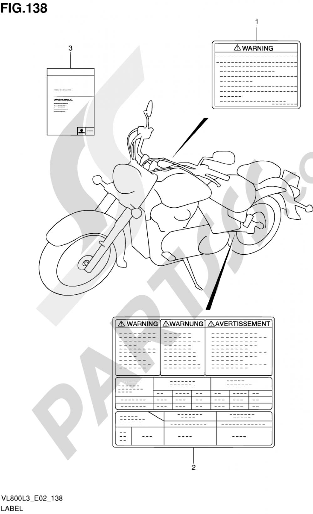 138 Label Vl800l3 E24 Suzuki Intruder Vl800 2013 Wiring Diagrams