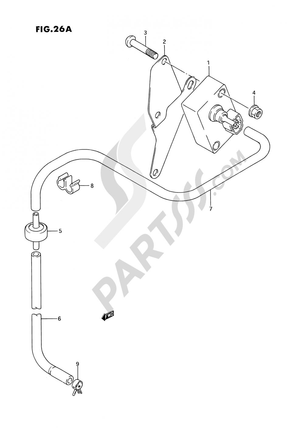 26A - BOOST SENSOR (MODEL K/L/M/N/P/R/S) Suzuki VS1400GLP 1991