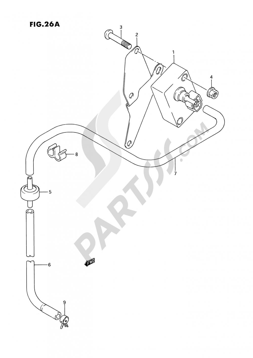 26A - BOOST SENSOR (MODEL K/L/M/N/P/R/S) Suzuki VS1400GLP 1993