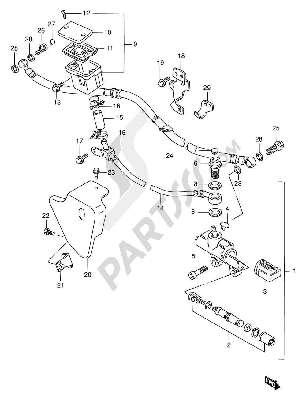56 - REAR MASTER CYLINDER Suzuki VS1400GLP 2000