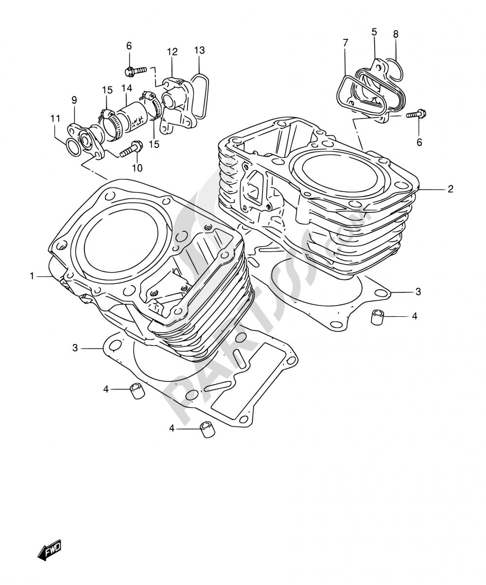 3 - CYLINDER Suzuki VS800GL 2003