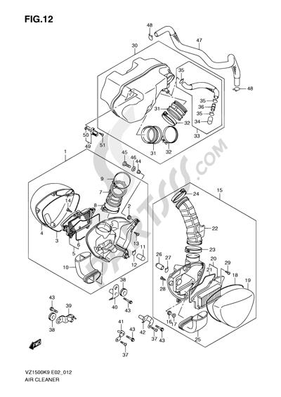 Suzuki VZ1500 2010 12 - AIR CLEANER