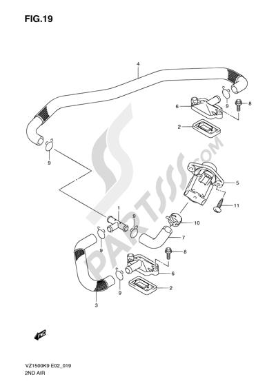 Suzuki VZ1500 2010 19 - SECOND AIR