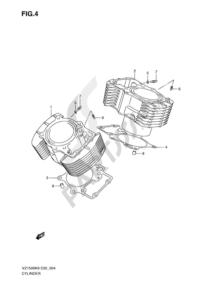 Suzuki VZ1500 2010 4 - CYLINDER