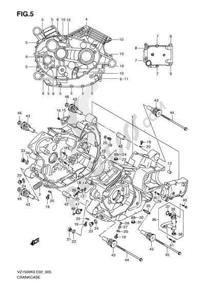 Suzuki VZ1500 2010 5 - CRANKCASE