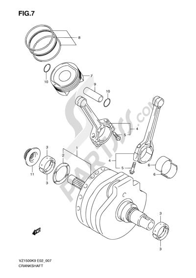 Suzuki VZ1500 2010 7 - CRANKSHAFT