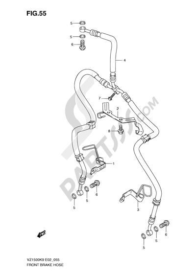 Suzuki VZ1500 2010 55 - FRONT BRAKE HOSE