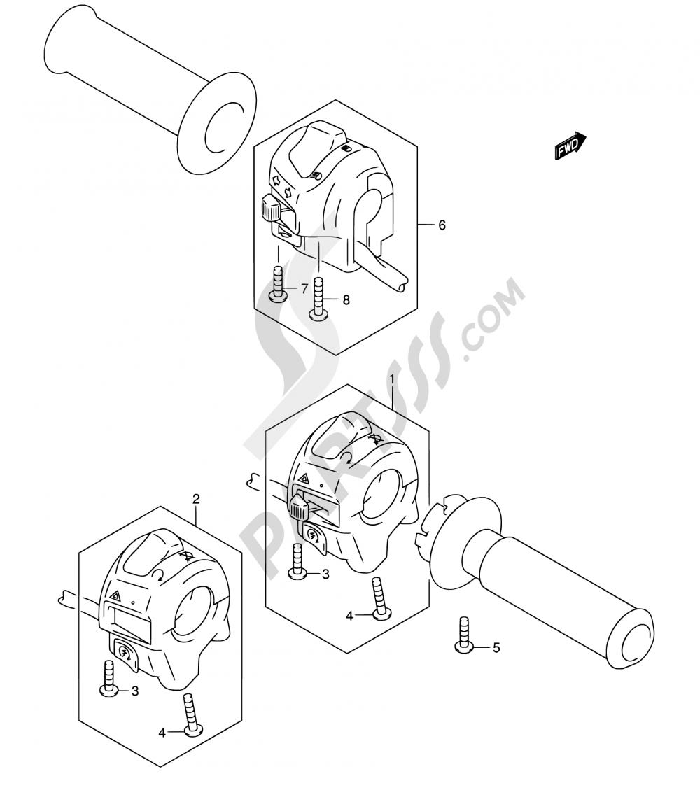 32 - HANDLE SWITCH (MODEL K3 E02,E19,E24,E71) Suzuki BURGMAN AN250 2003