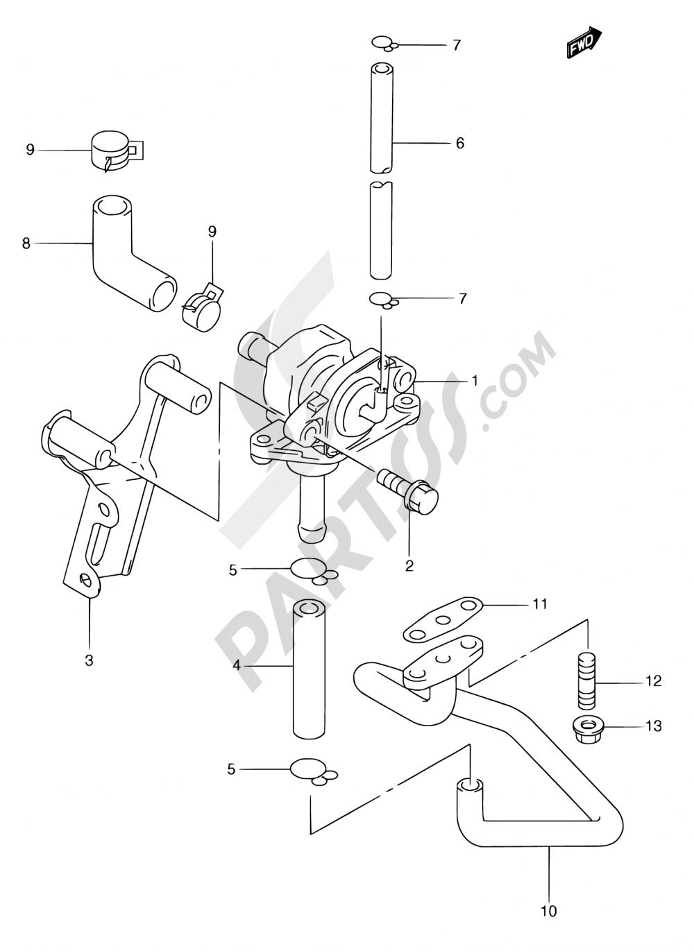 19 - 2ND AIR (AN250W/X/Y E18,AN250RY E34) Suzuki BURGMAN AN250 1999