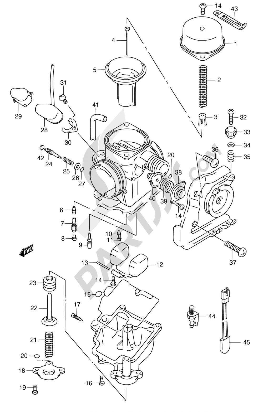 11 - CARBURETOR (MODEL W/X/Y) Suzuki BURGMAN AN250 2000
