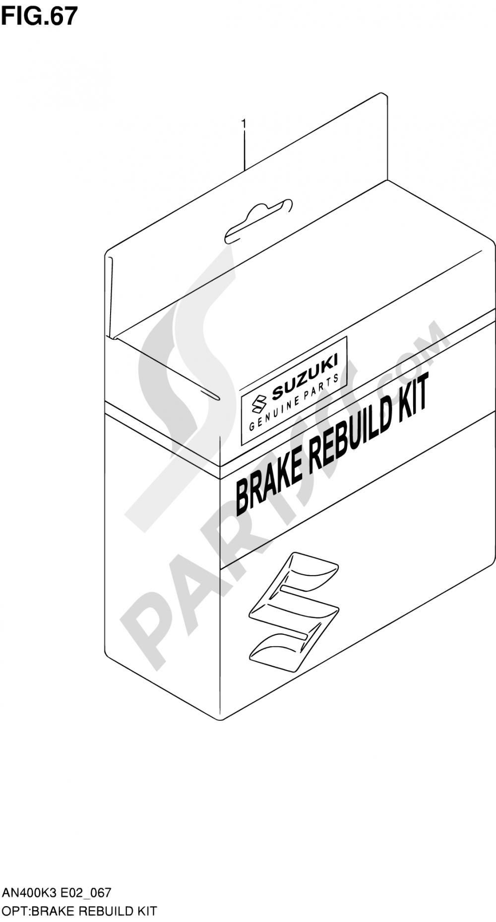 67 - BRAKE REBUILD KIT Suzuki BURGMAN AN400 2003
