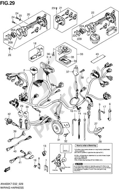 Suzuki BURGMAN AN400 2010 29 - WIRING HARNESS (IMOBI)(AN400K7/K8/K9/ZK7/ZK8/L0)
