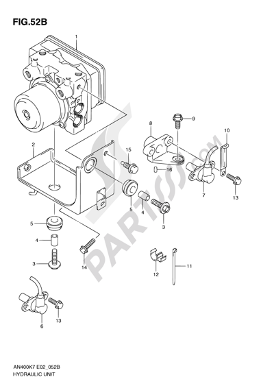 Suzuki BURGMAN AN400 2010 52B - HYDRAULIC UNIT (AN400AK9/ZAK9/AL0/ZAL0)