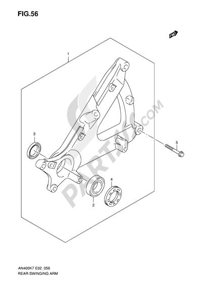 Suzuki BURGMAN AN400 2010 56 - REAR SWINGING ARM