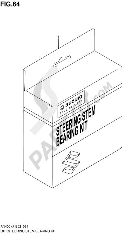 Suzuki BURGMAN AN400 2010 64 - STEERING STEM BEARING KIT