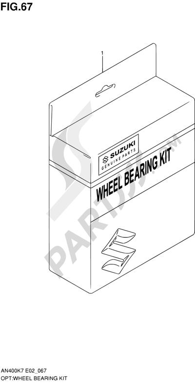 Suzuki BURGMAN AN400 2010 67 - WHEEL BEARING KIT (MODEL K9/L0)