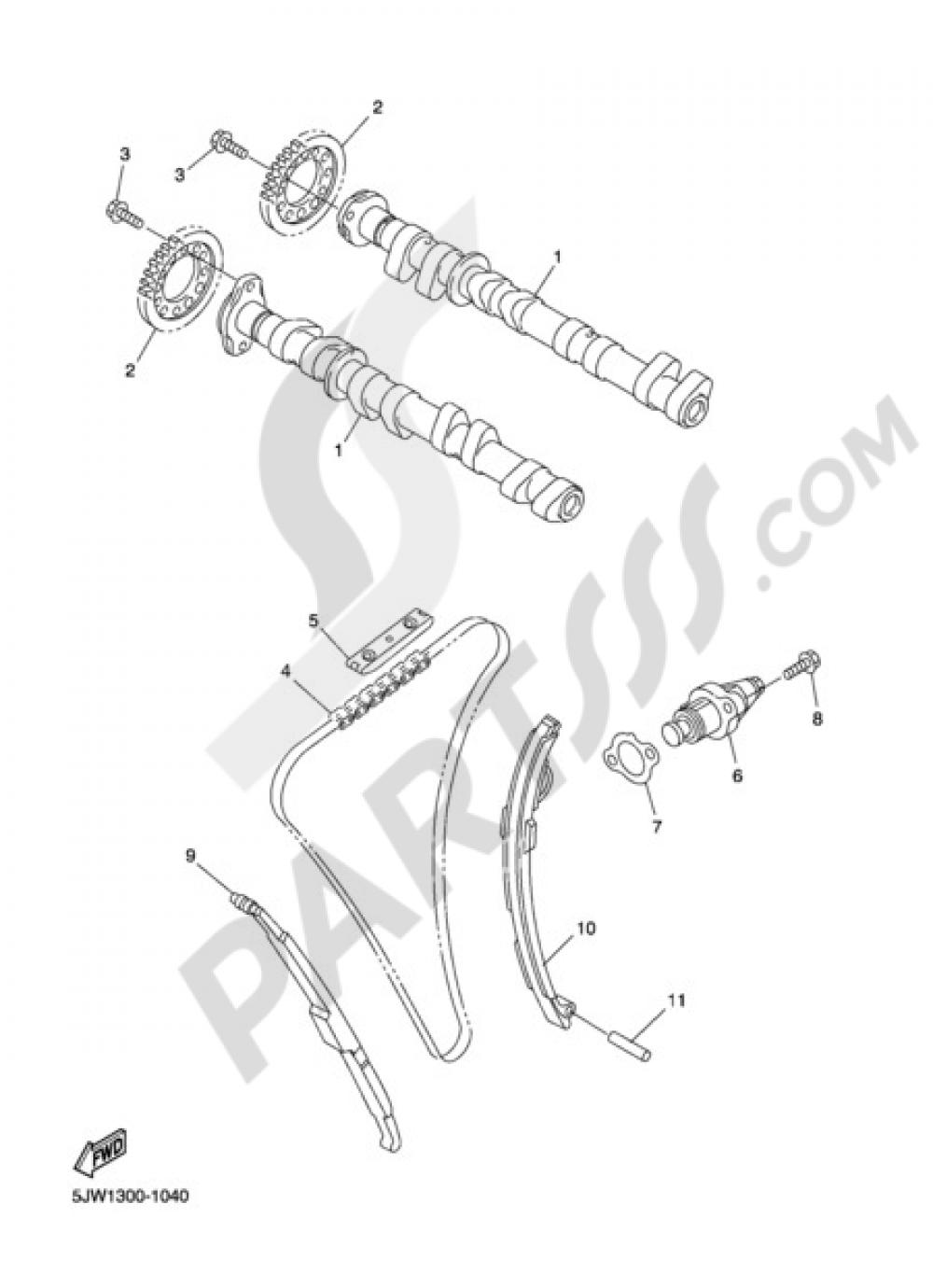 CAMSHAFT & CHAIN Yamaha FJR1300A 2004