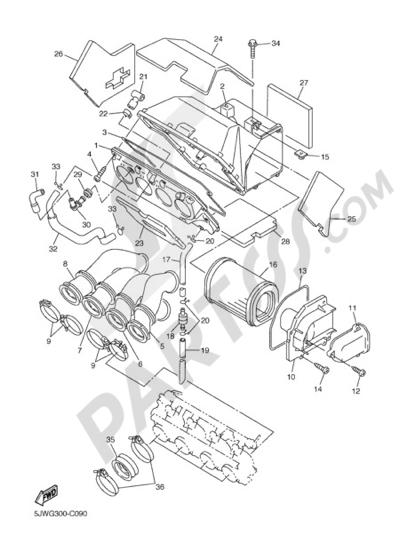 Yamaha FJR1300A 2005 INTAKE