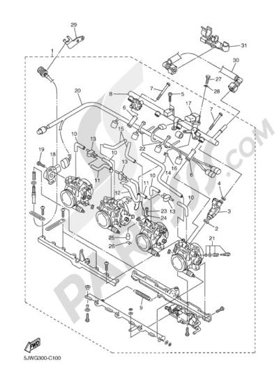 Yamaha FJR1300A 2005 INTAKE 2